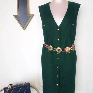 Vintage Hunter Green Vest Size 16